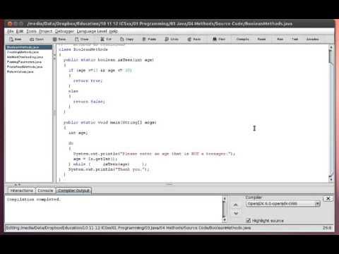 Java - Methods - Boolean Return Values