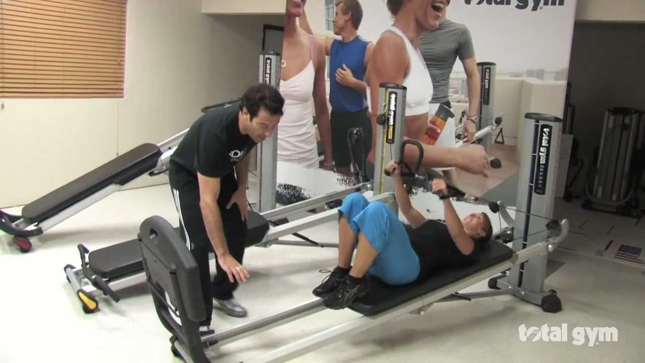 Total gym basic demonstration youtube for Gimnasio total