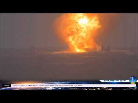Starship SN4 Explosion During Static Fire Test May 29 2020