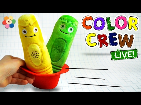 Learn Colors with COLOR CREW Soft Toys for Kids | Color Crew Live | BabyFirst TV