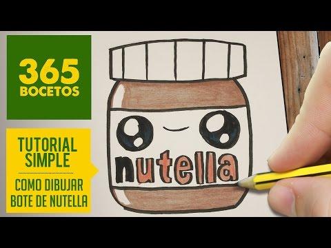 Como Dibujar Un Bote De Nutella Kawaii Paso A Paso Dibujos