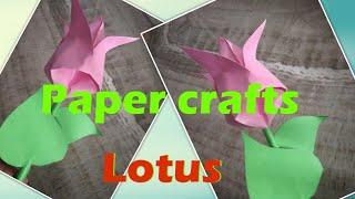 Lotus / paper flower / paper crafts / how to make lotus flower / DIY crafts