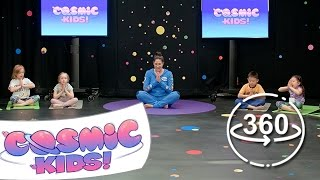 Play Kids Yoga Statues in 360° with Jaime from Cosmic Kids Yoga