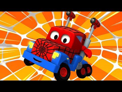 Football With Spiderman Truck ! Carl The Super Truck - Car City ! Trucks Cartoon For Kids