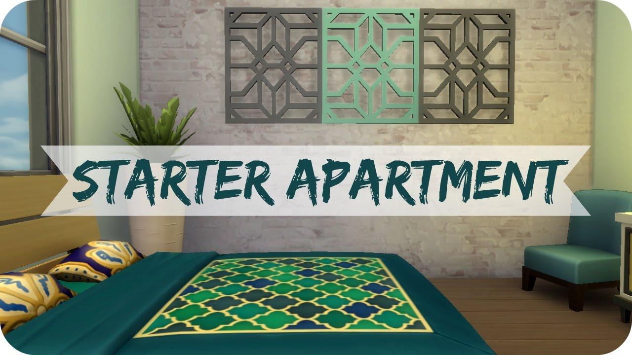 Sims 4 City Living | Boho Starter Apartment - YouTube
