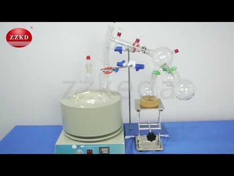 Short Path Vacuum Distillation For Sale ZKCL-5L Install