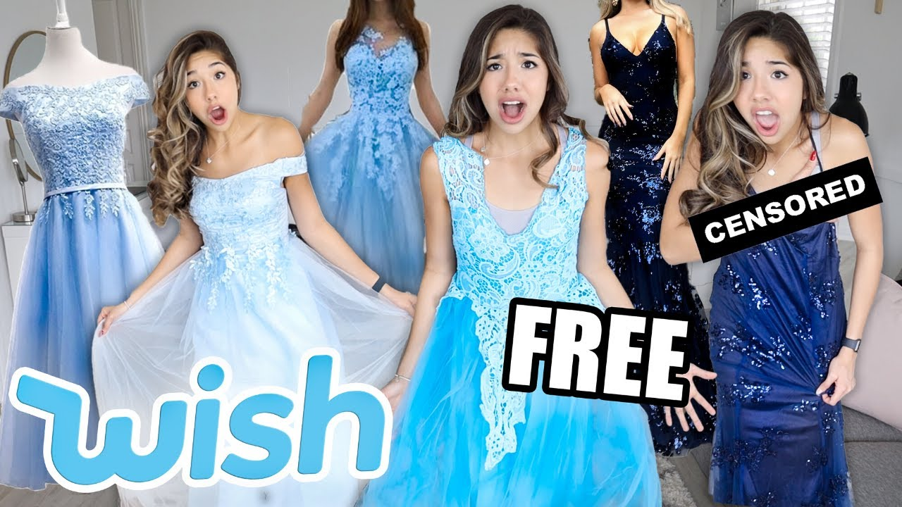 TRYING ON WISH PROM DRESSES! **FAIL & SUCESS**
