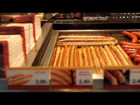 Bratwurscht in Frankfurt Hbf Station - Germany Travel Video