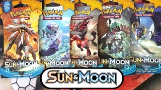 OPENING ALL 5 - POKEMON SUN & MOON BLISTER BOOSTER PACKS #2  - POKEMON UNWRAPPED OT