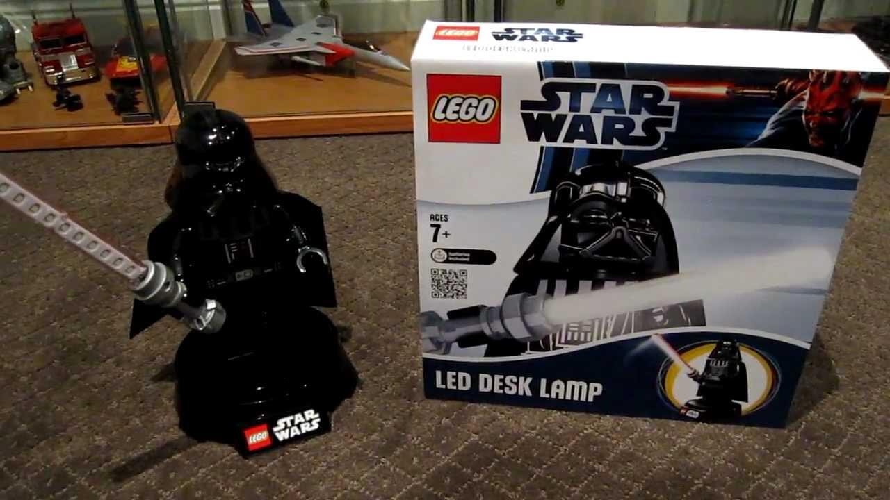 Lego Star Wars Darth Vader Led Desk Lamp Youtube