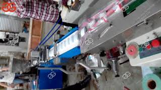 Horizontal Flow Wrap Wrapping Packing Machine for Soap Peanut Brittle Candy