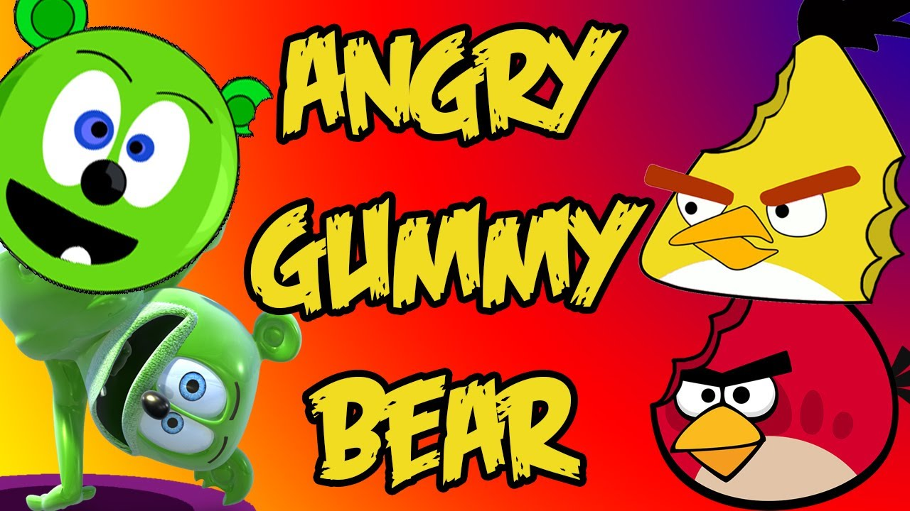 Angry Gummy Bear Gummy Bear Meets Angry Birds Youtube