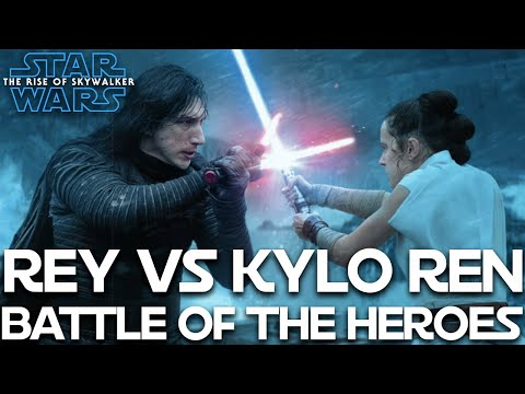Star Wars The Rise Of Skywalker Rey Vs Kylo Ren Battle Of The Heroes Edition Youtube