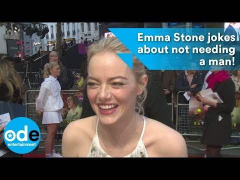 Emma Stone jokes about not needing a man!