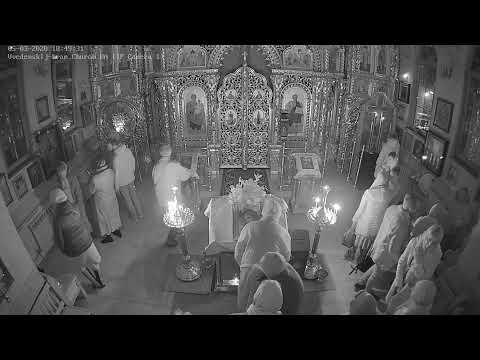 Великое повечерие с чтением четвертой части канона прп.Андрея Критского (видеокамера №1)