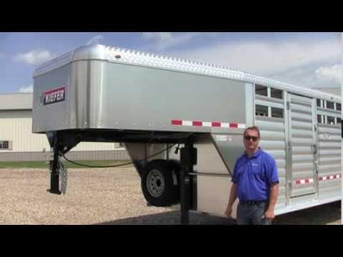 Kiefer 28' Deluxe II Livestock Trailer