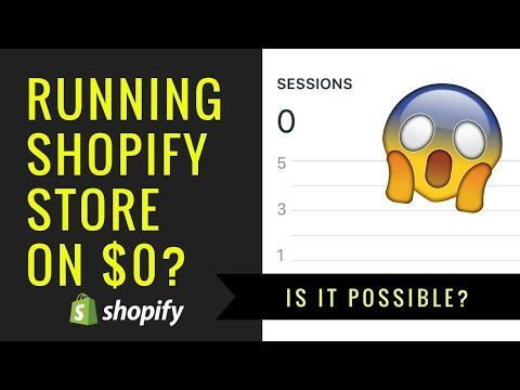 Is It Possible To RUN A Shopify Dropshipping Store On $0 & FREE Traffic? thumbnail