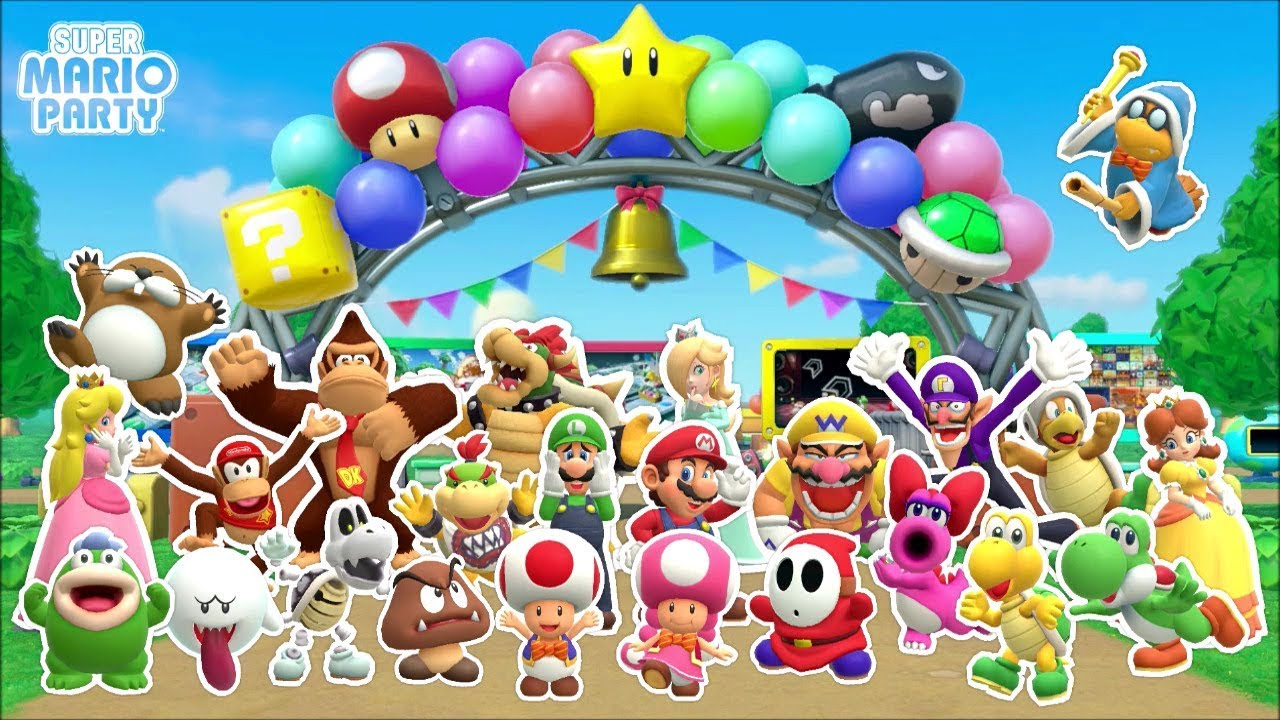 Super mario party all stickers complete collection