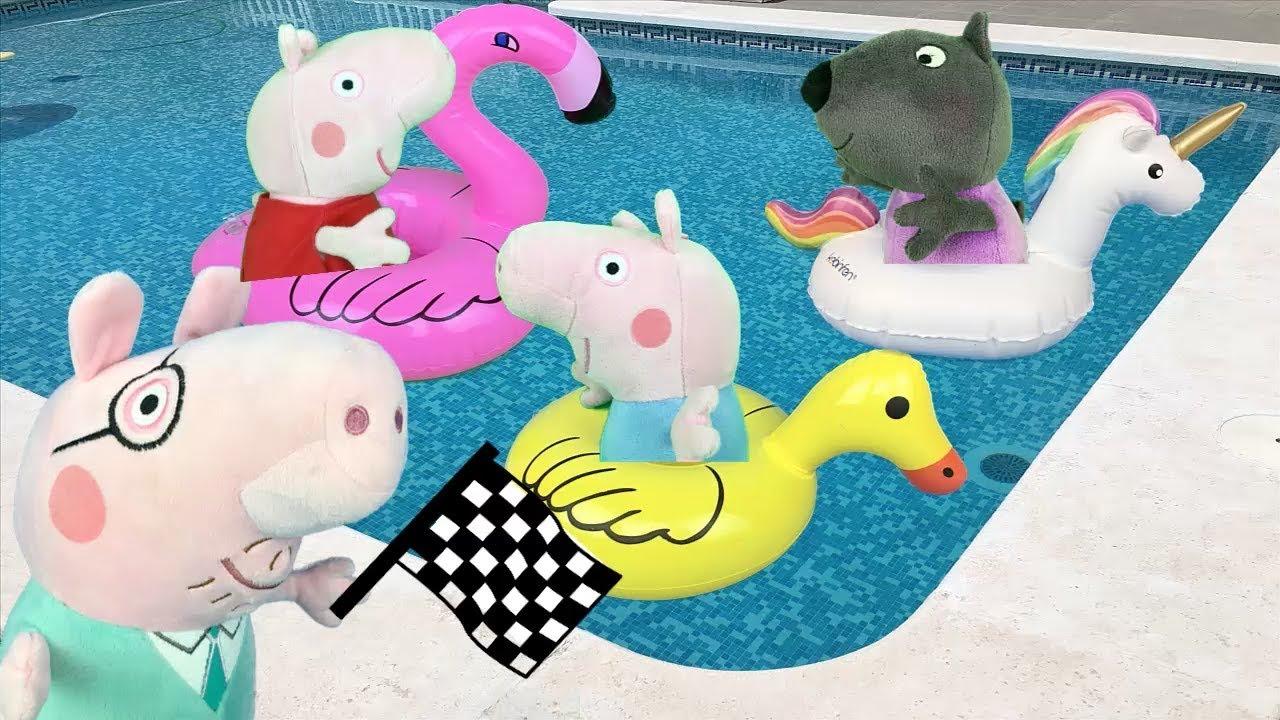 Peppa Pig En Español Carrera De Hinchables En La Piscina Nuevo Capitulo De 2018 Videos De Juguetes Historias Mejores Juguetes Mundo Videos Español 11 23 Hd