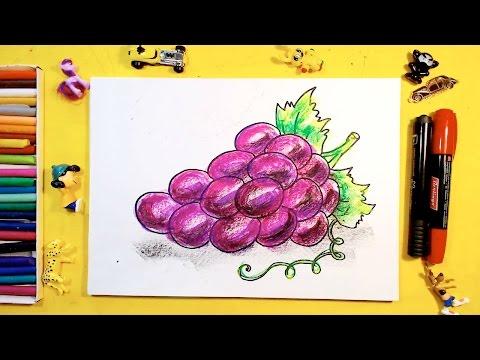 Как нарисовать ВИНОГРАД / Урок рисования для детей от 3 лет