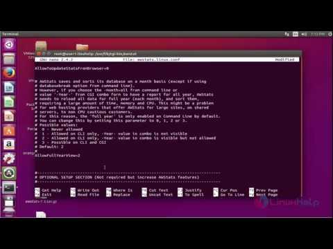 How to Install AWStat tool on Ubuntu