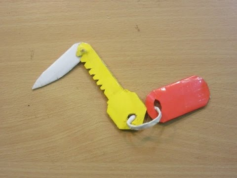How To Make A Paper  Knife ( Pocket Key Knife )- Easy Paper Blade Tutorials