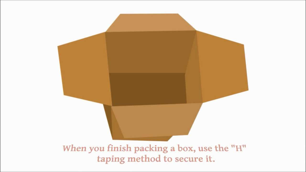 moving tips how to tape your box securely budget van lines youtube. Black Bedroom Furniture Sets. Home Design Ideas