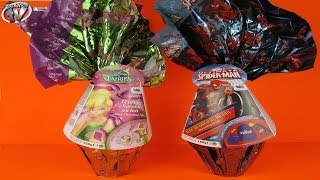 Disney Fairies & Ultimate Spider-Man Surprise Toy Easter Eggs Review & Opening, BonBon Buddies