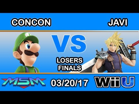 MSM 90 - SS | Mr. ConCon (Luigi) Vs. HY | Javi (Cloud) Losers Finals - Smash Wii U