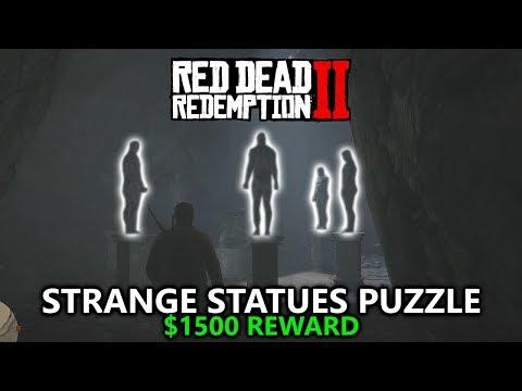 Red Dead Redemption 2 - Strange Statues Puzzle - $1500 Reward (3 Gold Bars)