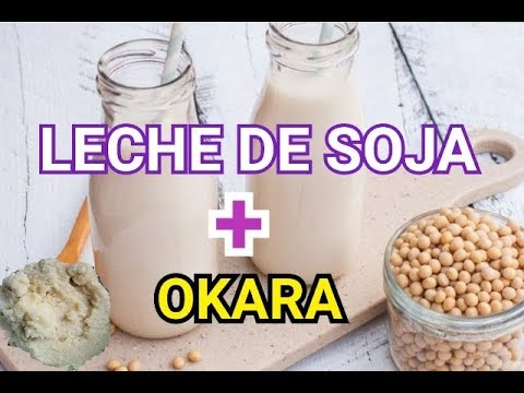 TODO LO QUE DEBES SABER PARA PREPARAR LECHE DE SOJA ( SOYA) Y OKARA