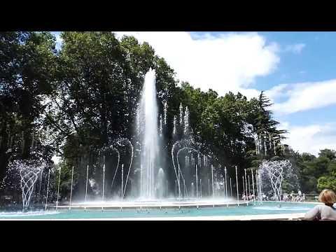 Musical Fountain on Margaret Island Budapest
