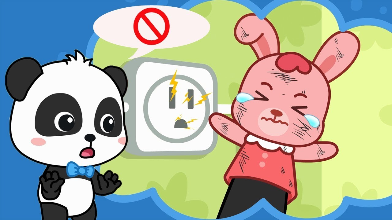 rabbit momo dont touch the electricity safety tips for