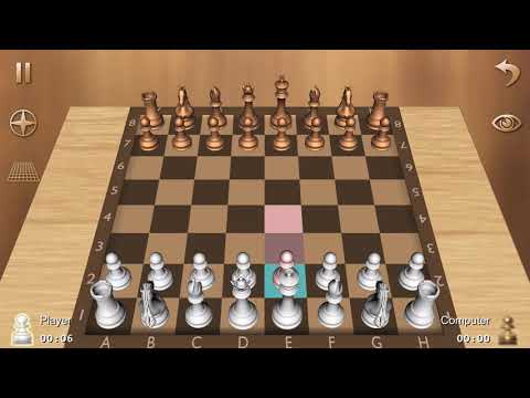 Playing chess against computer level 1. Game1
