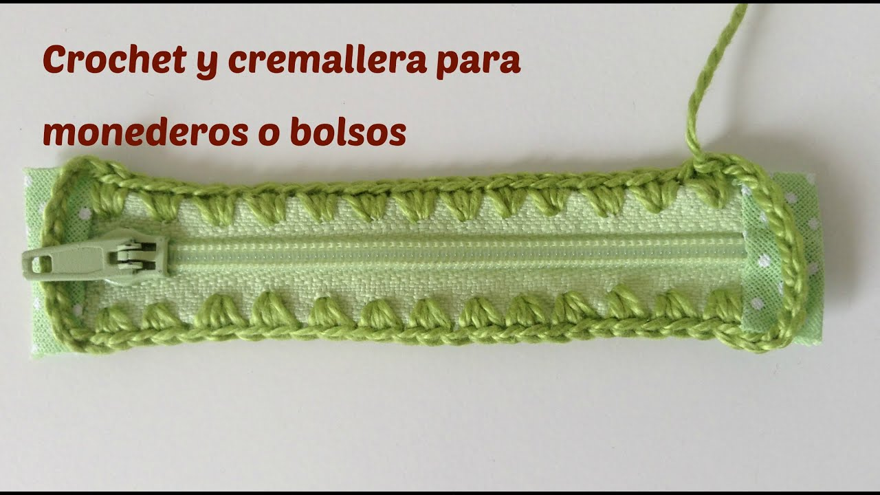 Crochet Zipper : Crochet on zipper, for crochet purse - YouTube