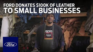 homepage tile video photo for Ford Donates $100,000 Worth of Leather to Detroit Small Businesses | Ford