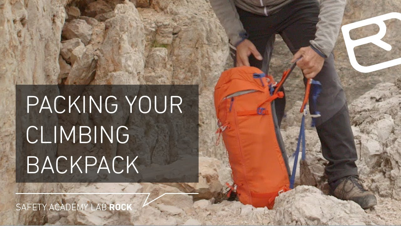 Packing your climbing backpack