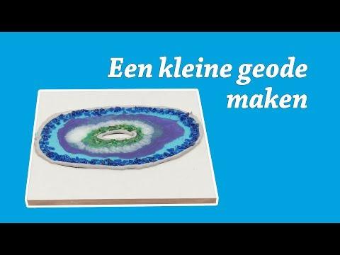 Geode maken met Epoxy Resin DIY