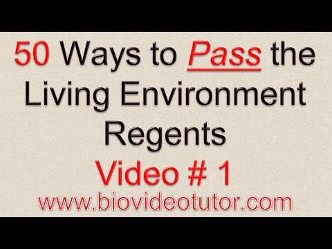 50 Ways to Pass the Living Environment Regents! Video # 1 ATP