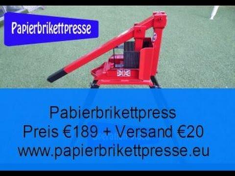 Papierbrikettpresse Erneuerbare Energie Freestander MK 2