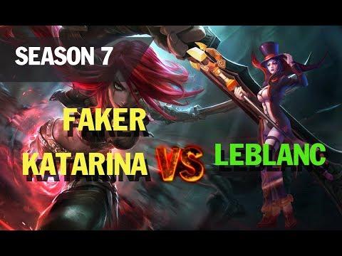 Season 7 FAKER plays KATARINA vs LEBLANC l LOL League of legends
