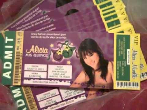 Mardi Gras Custom Ticket Quinceanera or Sweet Sixteen Invitations CHECK ME OUT - YouTube