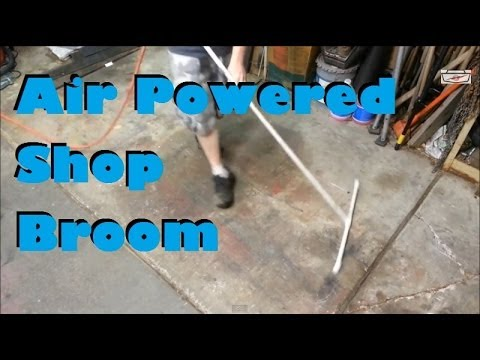 Turn Sweeping the Workshop from a Chore to a Joy with a DIY Air Broom