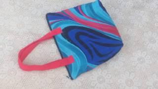 simple zipper  bag ll market bag ll lunch bag ll bag banana