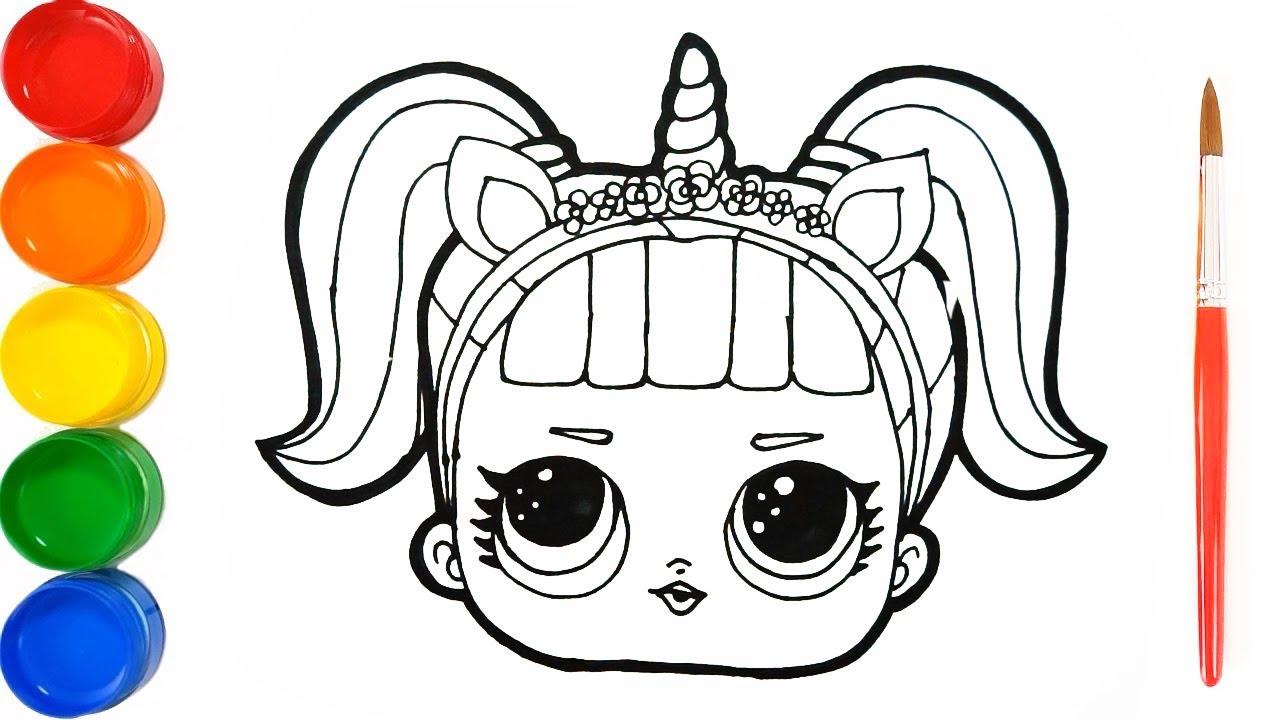 Como Dibujar Y Pintar Lol Unicornia Dibujos Para Ninos Aprende