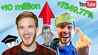 famous youtubers then and now 2016 2017 youtubers who gained the most subscribers