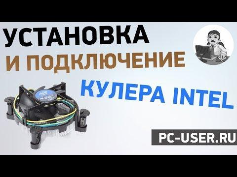 Как установить кулер на процессор intel