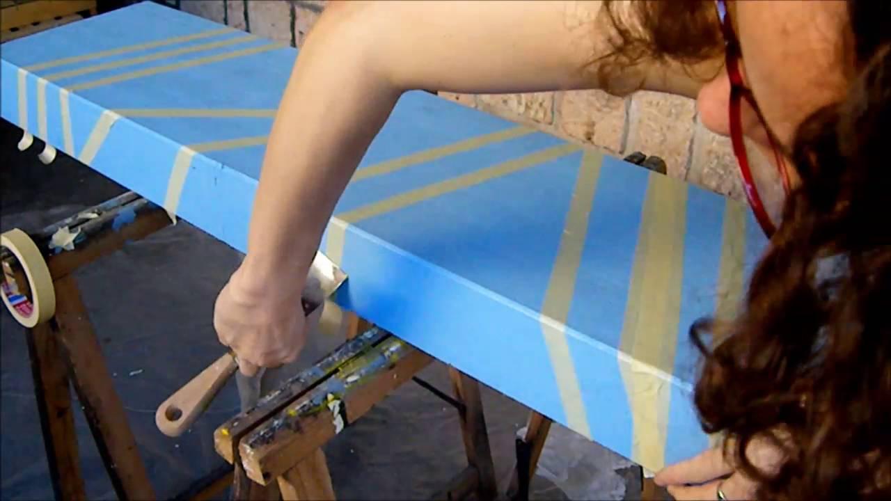 Peindre Bandes Et Pochoirs Sans Bavure Youtube