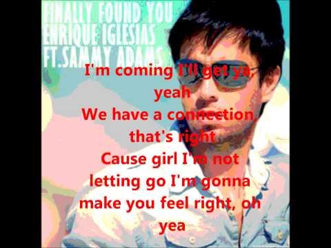 Enrique Iglesias Finally Found U Ft. Samy Adams (Clean Lyrics)