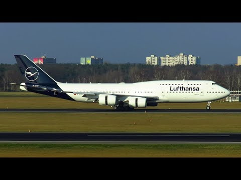 NEW  LUFTHANSA LIVERY! B747-8i Landing at Berlin Tegel Airport | Livery Demo Tour | D-ABYA